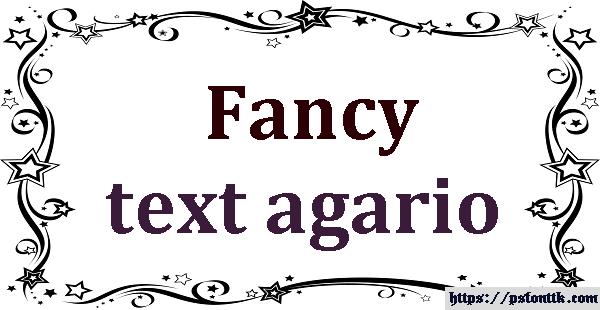 Fancy text agario