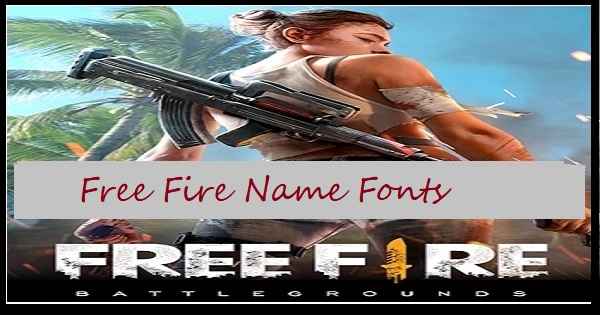 Free Fire Name Fonts