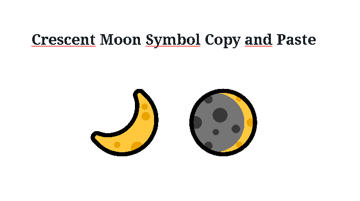 Crescent Moon Symbol Copy and Paste