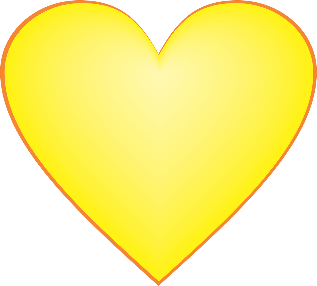 Yellow Heart Snapchat