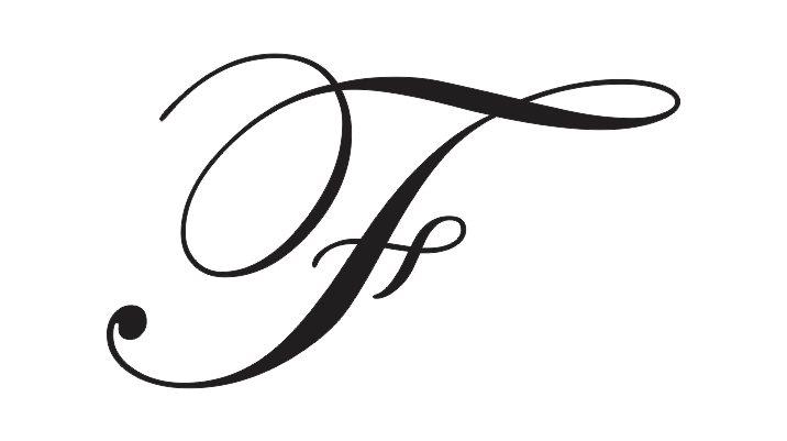 capital f in calligraphy