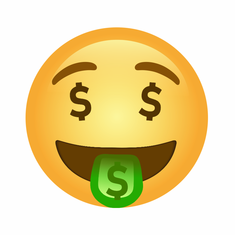 🤑, Money-Mouth Face Emoji