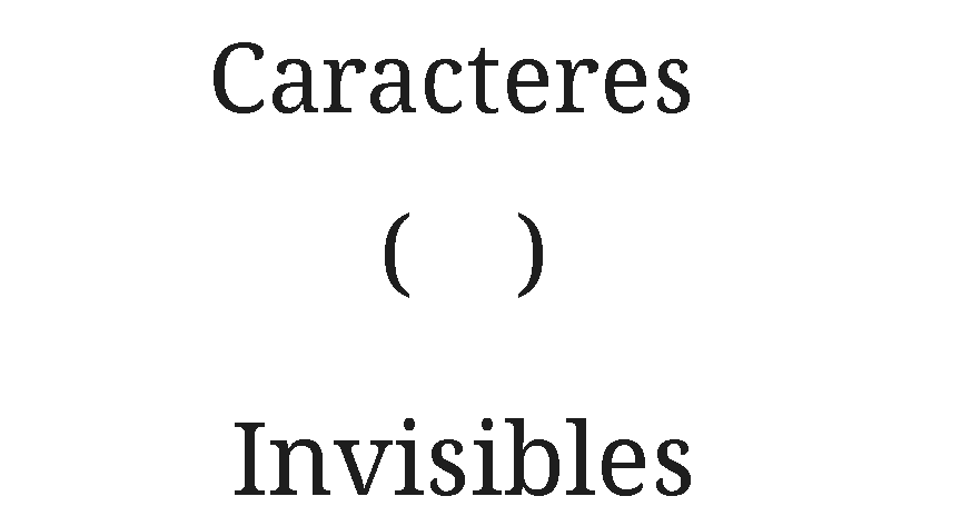 Caracteres Invisibles