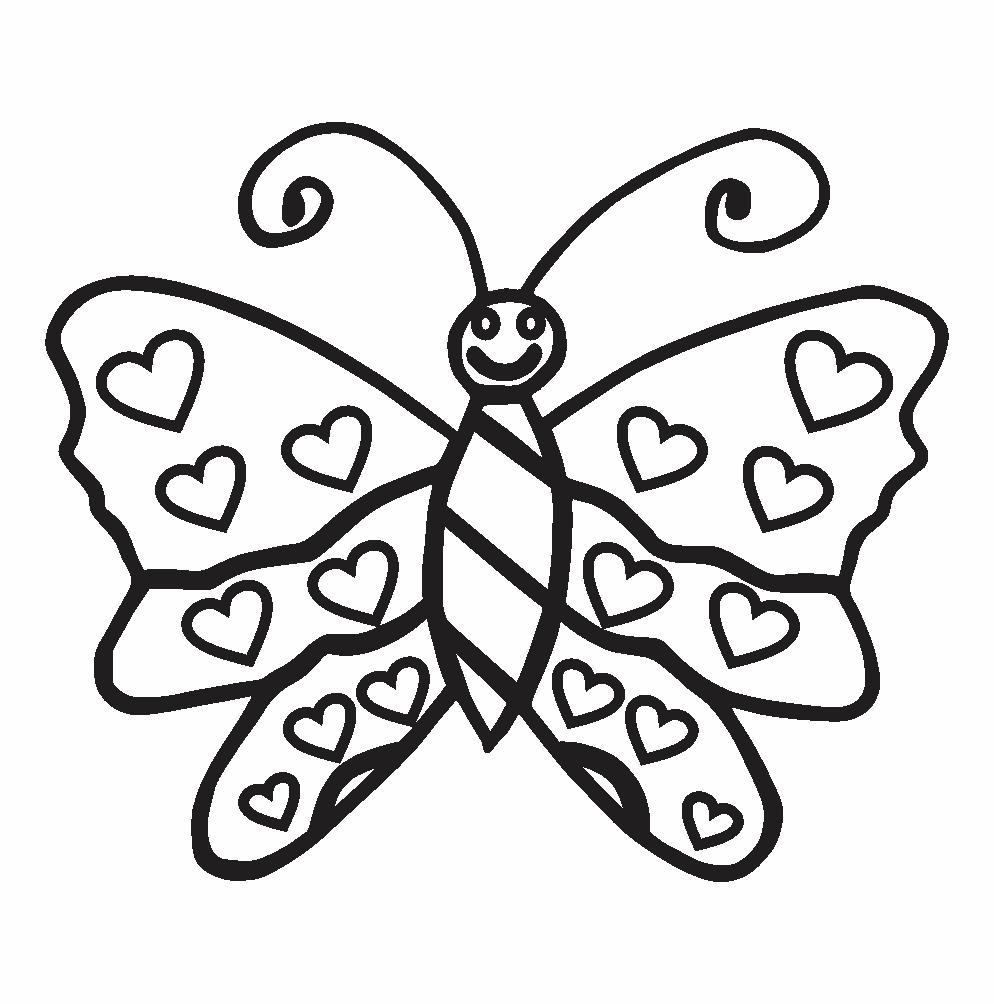 butterfly colouring images