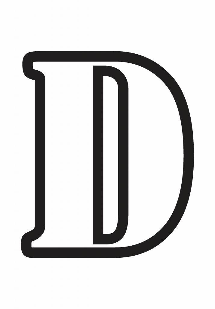 letter d printable, letter d template printable
