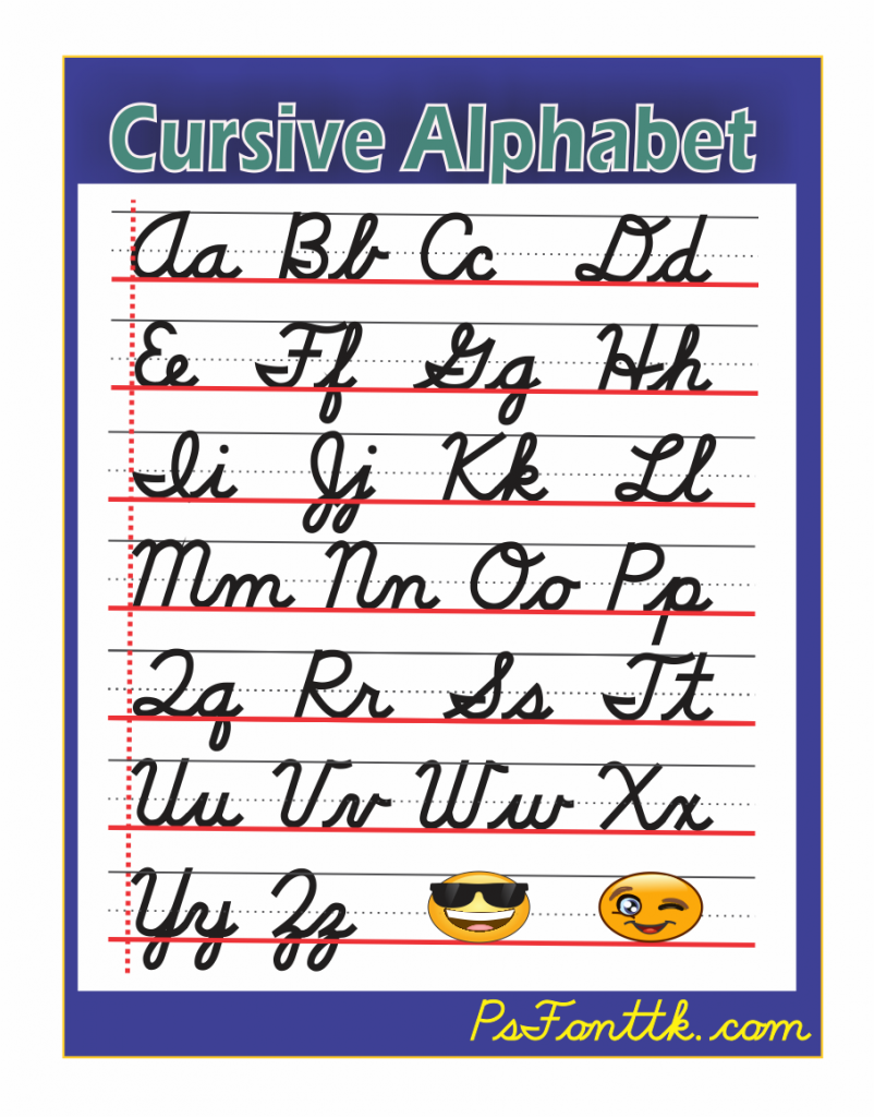 the alphabet in cursive