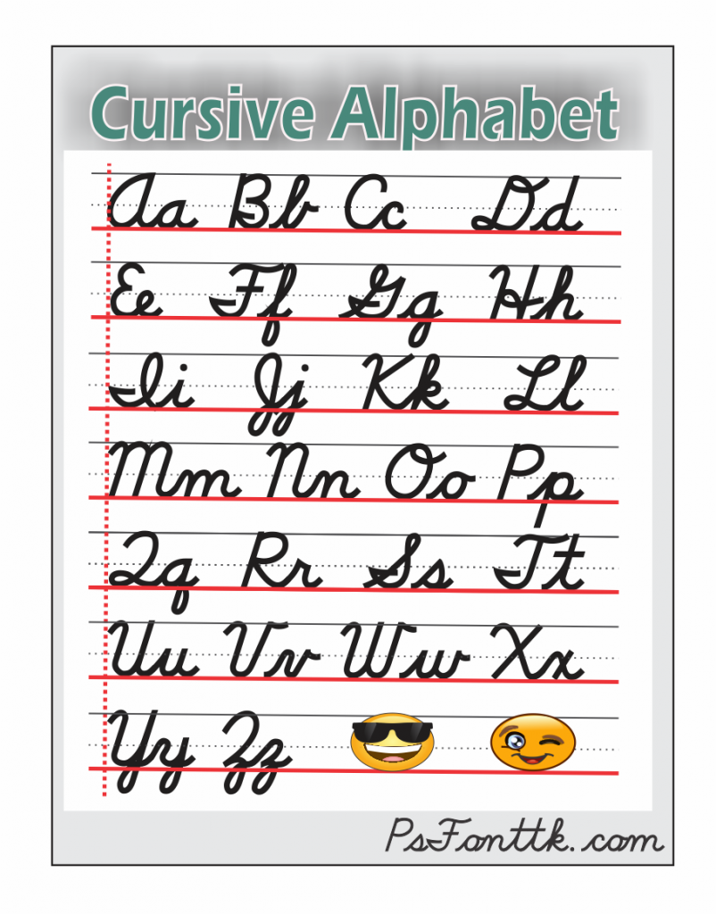 the alphabet of cursive
