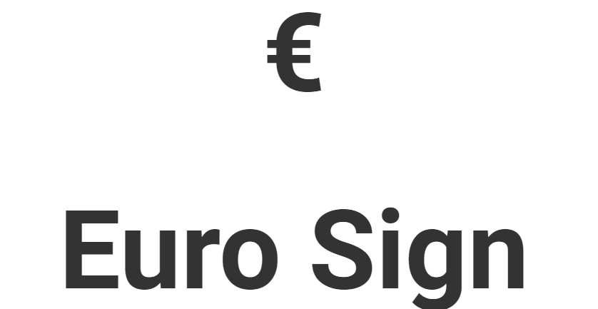 Euro Sign Copy And Paste