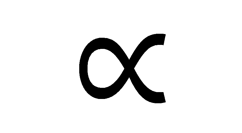 proportional to symbol
